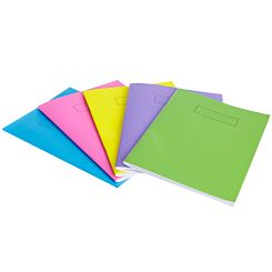 Silvine A4 Bright Exercise Book 72 Pages Assorted