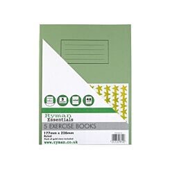 Ryman Exercise Books Ruled with Margin Pack of 5 177x228mm