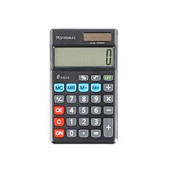 Ryman 8 Digit Pocket Calculator DX-8P