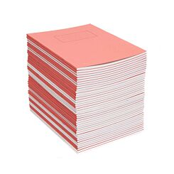 Silvine Exercise Book 9 Inch x 7 Inch Ruled 75gsm Pack of 40 Red