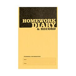 Silvine A6 Homework Diary 75gsm Pack of 20