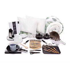 Luxury Student Bedding and Kitchenware Bundle 3/4 Fern