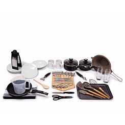 Luxury Student Kitchen Pack Cookware and Dining Bundle