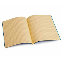 Tinted Exercise Book Standard 7x9 Squared 7.5mm Orange