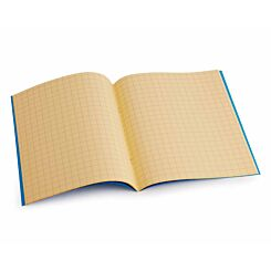 Tinted Exercise Book Standard 7x9 Squared 10mm Orange