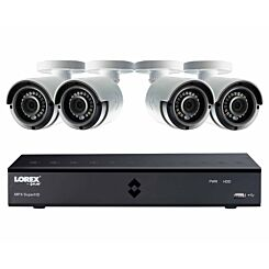 Lorex 8 Channel 2TB DVR with 4 x 4MP Super HD Cameras