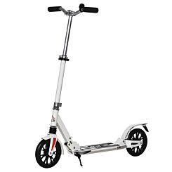 Homcom Adjustable Kick Scooter with Foot Brake