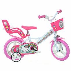 Hello Kitty 12 Inch Wheel Childrens Bicycle