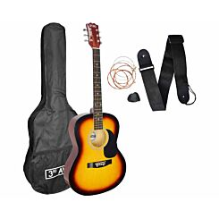 3rd Avenue Acoustic Guitar Beginner Standard Pack Sunburst