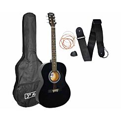 3rd Avenue Acoustic Guitar Beginner Standard Pack Black