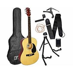 3rd Avenue Acoustic Guitar Beginner Premium Pack Natural