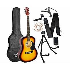 3rd Avenue Acoustic Guitar Beginner Premium Pack Sunburst