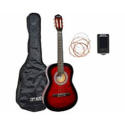 3rd Avenue 3/4 Size Beginner Classical Guitar Pack Red