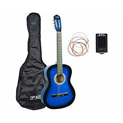 3rd Avenue Full Size Beginner Classical Guitar Pack Blue