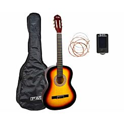3rd Avenue Full Size Beginner Classical Guitar Pack Sunburst
