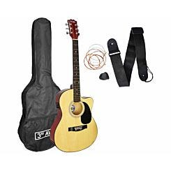 3rd Avenue Cutaway Electro Acoustic Guitar Kit Natural