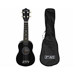 3rd Avenue STX40 Soprano Ukulele with Bag Black