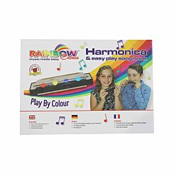 Rainbow Colours Beginners 4 Hole Harmonica