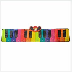 Rainbow Colours Slimline Piano Mat