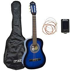 3rd Avenue 1/2 Size Guitar Pack Blue/Black