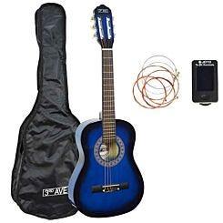 3rd Avenue 1/4 Size Guitar Pack Blue/Black