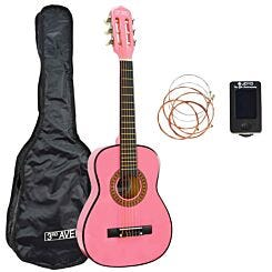 3rd Avenue 1/4 Size Guitar Pack Pink