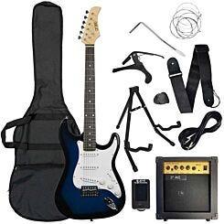 3rd Avenue Electric Guitar Pack Blue/Black