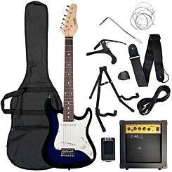 3rd Avenue Three Quarter Electric Guitar Pack Blue/Black