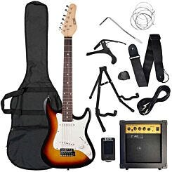 3rd Avenue Three Quarter Electric Guitar Pack Sunburst