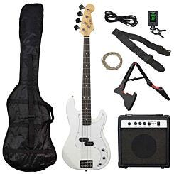 3rd Avenue Rocket Electric Bass Pack White