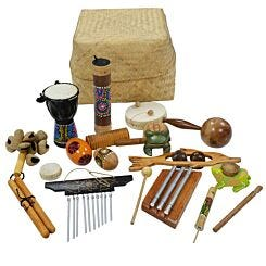 A-Star Multicultural Percussion Basket 15 Piece