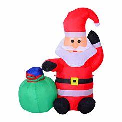 Inflatable Light Up Christmas Santa Claus 120cm