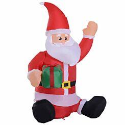 Inflatable Light Up Sitting Santa Claus 120cm