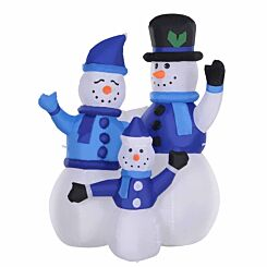 Inflatable Light Up Snowman Family 120cm