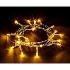 20 LED String Lights Battery Operated Static Warm White
