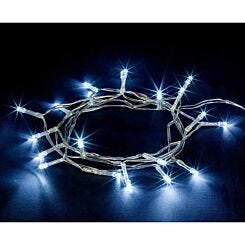 20 LED String Lights Battery Operated Static Ice White