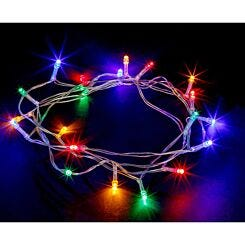 20 LED String Lights Battery Operated Static Multi Coloured