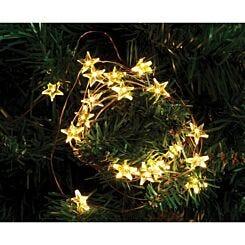 20 Copper String Lights Stars