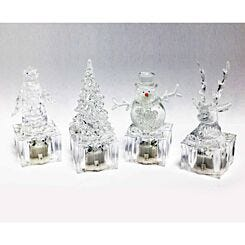 Mini Christmas Character Colour Changing LED Lights Assorted