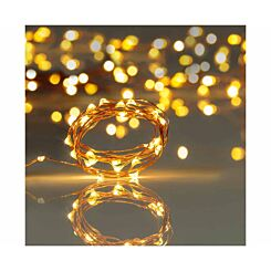 20 Copper String Lights Battery Operated Warm White