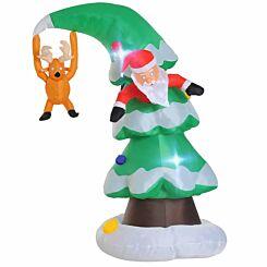 Inflatable Light Up Christmas Tree 240cm