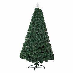 Green Pre Lit Fibre Optic Artificial Christmas Tree 90cm