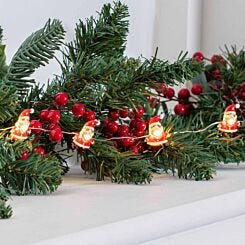 20 Santa Lights Battery Operated Copper LED String Lights Warm White