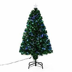 Green Pre Lit Fibre Optic Artificial Christmas Tree 120cm