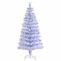 White Pre Lit Fibre Optic Artificial Christmas Tree 150cm