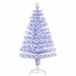 White Pre Lit Fibre Optic Artificial Christmas Tree 120cm