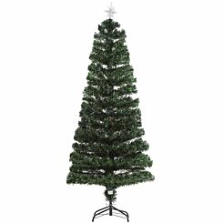 Multicoloured Pre Lit Artificial Christmas Tree with Star Topper 180cm