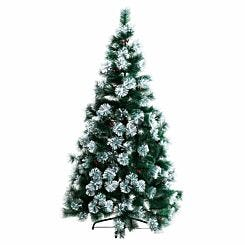 Snow Tipped Artificial Christmas Tree with Berries 150cm