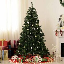 Pre Lit Artificial Christmas Tree with PVC Needles and Ornaments 180cm