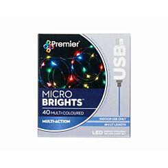 40 USB Christmas Lights Multi Coloured